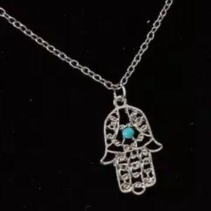 Jewelry - Hamsa silver necklace NEW